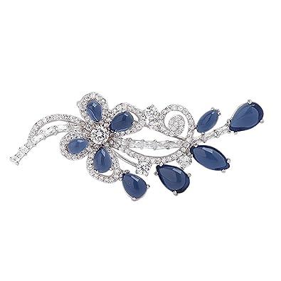 YAZILIND Forma de Mariposa Broche Pin Elegante Breastpin ...