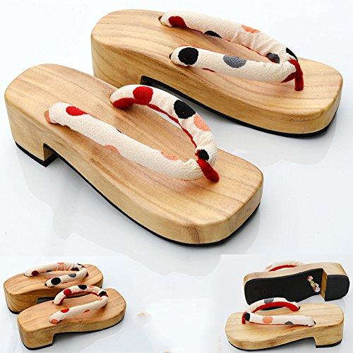Nuoqi Japonais En Bois Geta Sandales Sabots Flip Flops Cosplay Accessoires 12c