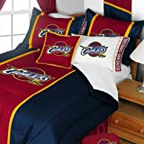 NBA Cleveland Cavaliers Queen Comforter and Pillowcase Set Basketball Team Logo Bedding