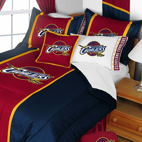 fan products of NBA Cleveland Cavaliers Queen Comforter and Pillowcase Set Basketball Team Logo Bedding