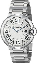 Cartier Unisex W69011Z4 Ballon Bleu Stainless Steel Midsize Watch