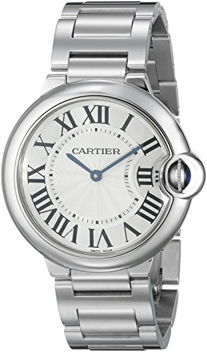 Cartier-Unisex-W69011Z4-Ballon-Bleu-Stainless-Steel-Midsize-Watch
