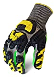Ironclad KONG INDI-KC5G-04-L Industrial Impact Knit Cut 5 Grip Oil & Gas Safety Gloves, Large