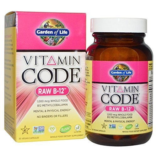 Garden of Life Vitamin Code Raw B12 30 Vegan Capsules (Pack of 2)