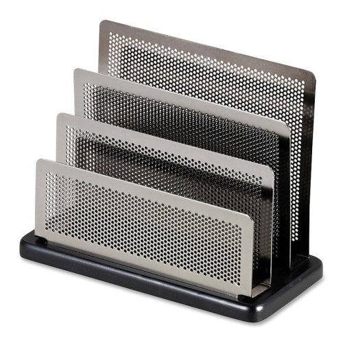 Metal Mini Sorter - Wholesale CASE of 10 - Rolodex Distinctions Pewter Wood Base Mini Sorter-Mini Sorter, 7-1/2