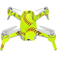 Skin For Yuneec Breeze 4K Drone – Softball Collection | MightySkins Protective, Durable, and Unique Vinyl Decal wrap cover | Easy To Apply, Remove, and Change Styles | Made in the USA