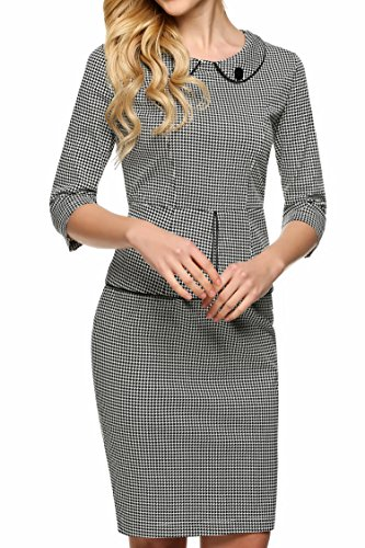 ANGVNS Vintage Houndstooth Print Evening X Large