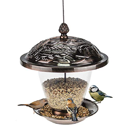 - Sungmor Electroplated Copper Bird Feeder | 9.5