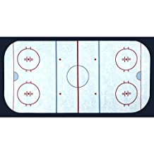 Sports Life Hockey Field Ice Fabric By The Yard