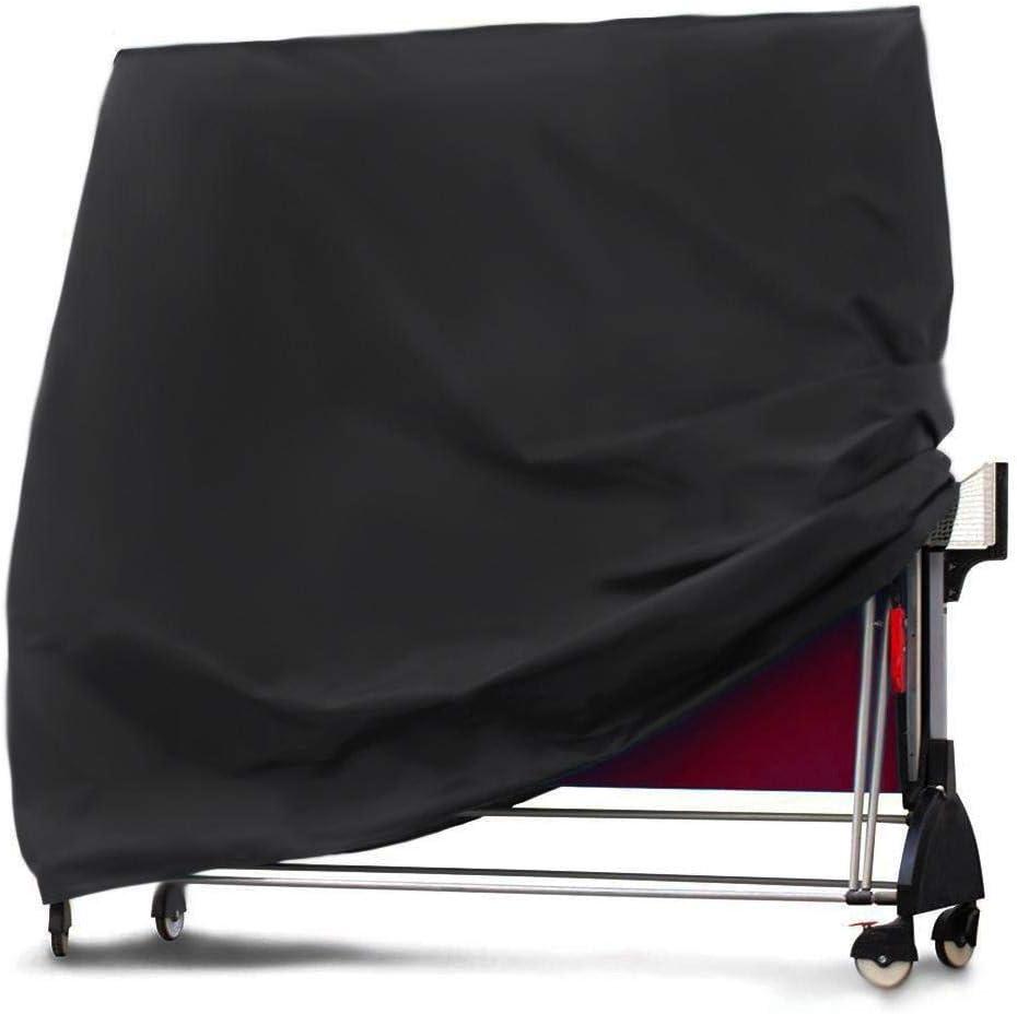 Knowled - Funda para tenis de mesa (resistente al agua, transpirable, tejido Oxford, 165 x 70 x 185 cm), color negro