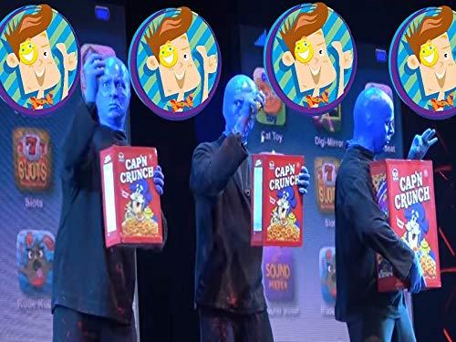 Raining Giant Wubble Bubble Party Blue Man Group Orlando Florida Show Plus Spicy Soda