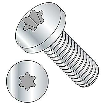 Fully Threaded Pack of 100 T6 Star Drive 6 mm Length Meets ISO 7045 18-8 Stainless Steel Pan Head Machine Screw M2-0.4 Thread Size Import