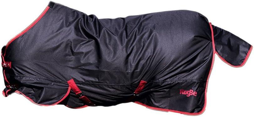 Manta de Exterior RugBe Zero.1, 125 cm, Negro/Rojo con Ribete