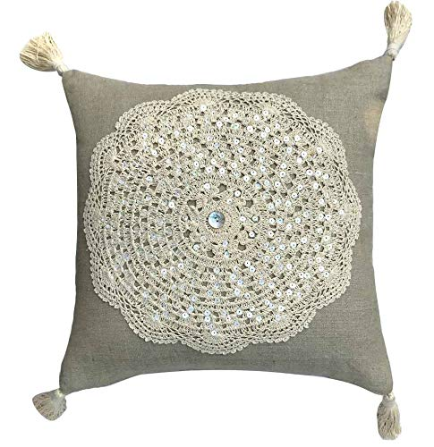 The HomeCentric Funda de Almohada Decorativa Beige Tapete de ...
