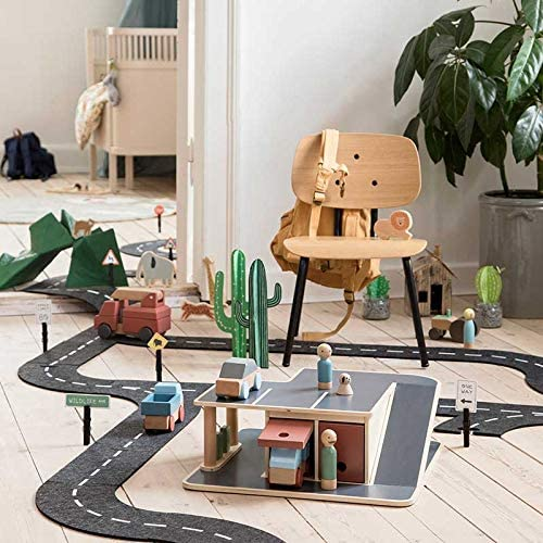 Sebra speelgoedgarage van hout