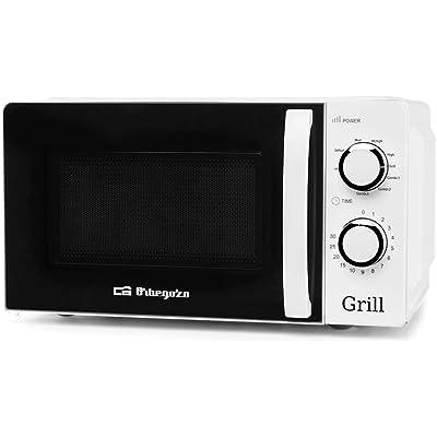 Orbegozo 17542 Microondas con grill con 20 litros de capacidad, 5 niveles de funcionamiento y 3 funciones combinadas, temporizador hasta 30 minutos, 700-900 W, 900 W, Blanco