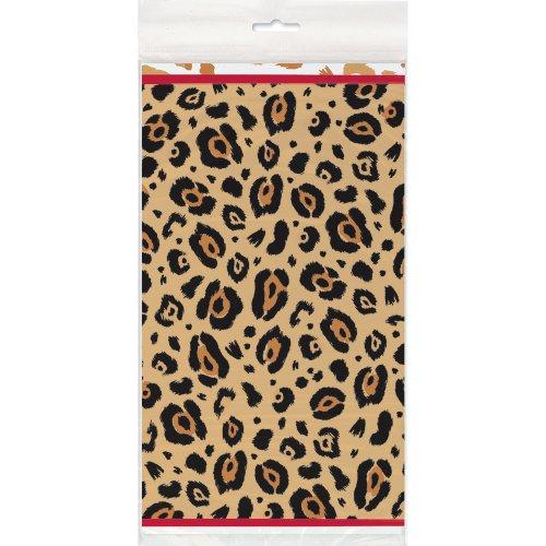 Cheetah Print Plastic Tablecloth 84