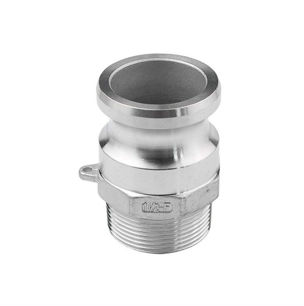 Manloney LLC Type F Cam & Groove Hose Fittings 304 Stainless Steel Quick Connector (2'' DN50)
