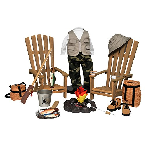 The Queen's Treasures Complete 18 in Doll Adirondack Outdoor Camping & Fishing Adventure 22 Piece Furniture, Accessory & Clothing Set. Fits American Girl ()