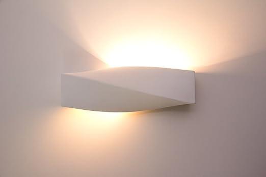Wandlampe Suzu In Weiß Aus Gips   Moderne Wandleuchte Geeignet Für LED  Leuchtmittel   Gipslampe Bemalbar
