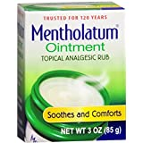 Mentholatum Topical Analgesic Ointment, 3 oz by Mentholatum (Pack of 2)