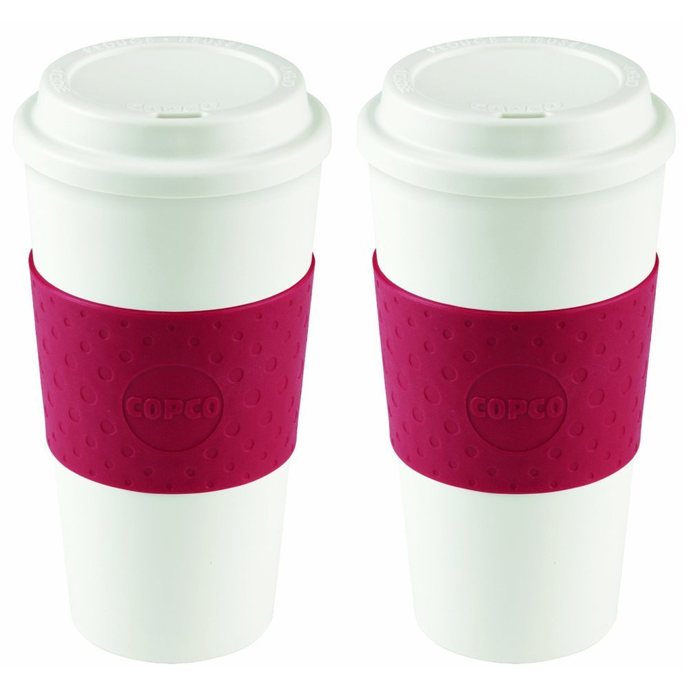 Copco 2510-9990 Acadia Travel Mug, 16-Ounce, Cherry Red (2 pack)