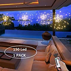 *Ledes -Make your life beautiful*  Add a bit of whimsy to your indoor and outdoor holiday lighting with our firework lights. White colored twigs accented with warm white LED lights, are arranged in a starburst design. With white hooks, hang t...