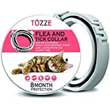 TUZZE Flea and Tick Collar for Cats - 8 Months Continuous Flea Protection for Cats - Waterproof and 100% Natural Essential Oil Extract Cat Flea Collar - Safe Flea Treatment [2019 Upgrade Version]