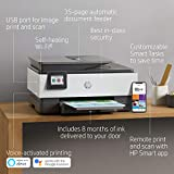 HP OfficeJet Pro 8035 All-in-One Wireless Printer - Includes 8 Months of Ink Delivered to Your Door, Smart Home Office Productivity - Basalt