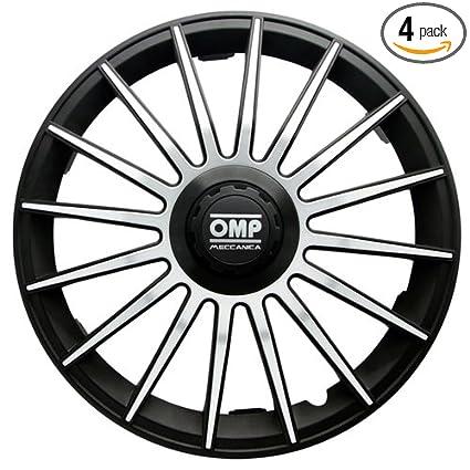 Amazon.com: OMP OMP1410 Formula Wheel Covers, Black/Silver, Set of 4, 14