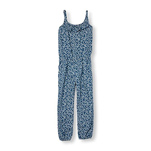 The Children's Place Little Girls' Daisy Denim Jumpsuit, Denim, S (5/6)