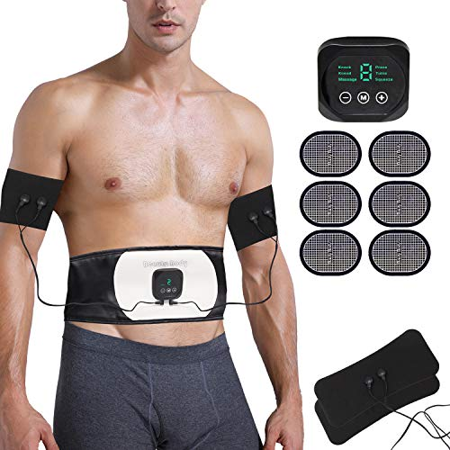 Abs Stimulator Abdominal Trainer Ultimate Waist Trimmer Ab Stimulator Men Women Work Out Ads Power Abs Training Gear Workout Equipment Portable Stimulator Abs Belt
