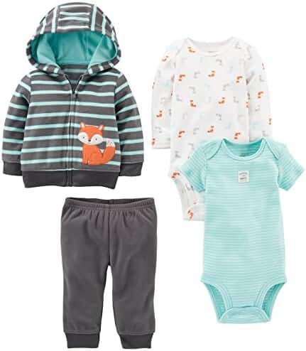 Simple Joys by Carter's Boys Baby 4-Piece Fleece Jacket Set