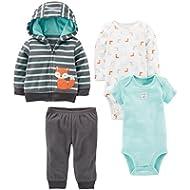 Simple Joys by Carter's Baby Boys' 4-Piece Fleece Jacket, Pant, and Bodysuit Set