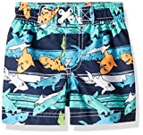 Wippette Baby Boys Quick Dry Swim Trunk, Cute Shark Navy, 18M