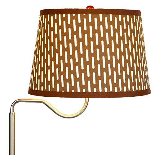 Brightech - Madison LED Floor lamp with Wireless Charging Pad & USB Port, Shelves & Bedside Table Nighstand with Lamp attached - Mid Century Modern End Table for Living Rooms - Havana Brown by Brightech (Image #3)