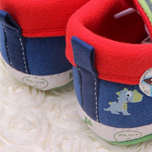 BOBORA Bebe Nino Caricatura Impresa Zapatos Casual Fondo Suave Nino Zapatillas Rojo