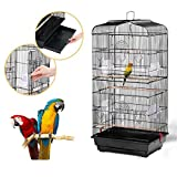 go2buy Large Birdcage Parrot Cockatiel Canary Cage,18x14x36 Inches (Black)