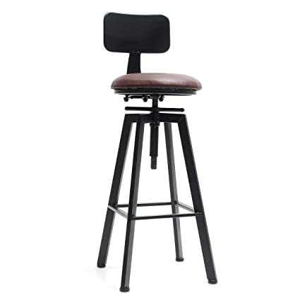Prime Bloomerang Adjustable Retro Bar Stool Metal Leather Craft Caraccident5 Cool Chair Designs And Ideas Caraccident5Info
