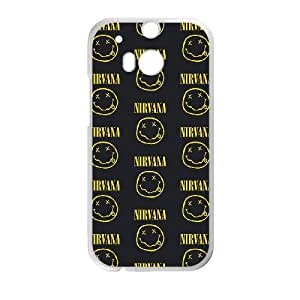 Printed Cover Protector HTC One M8 Cell Phone Case White Nirvana Odzob Printed Cover Protector