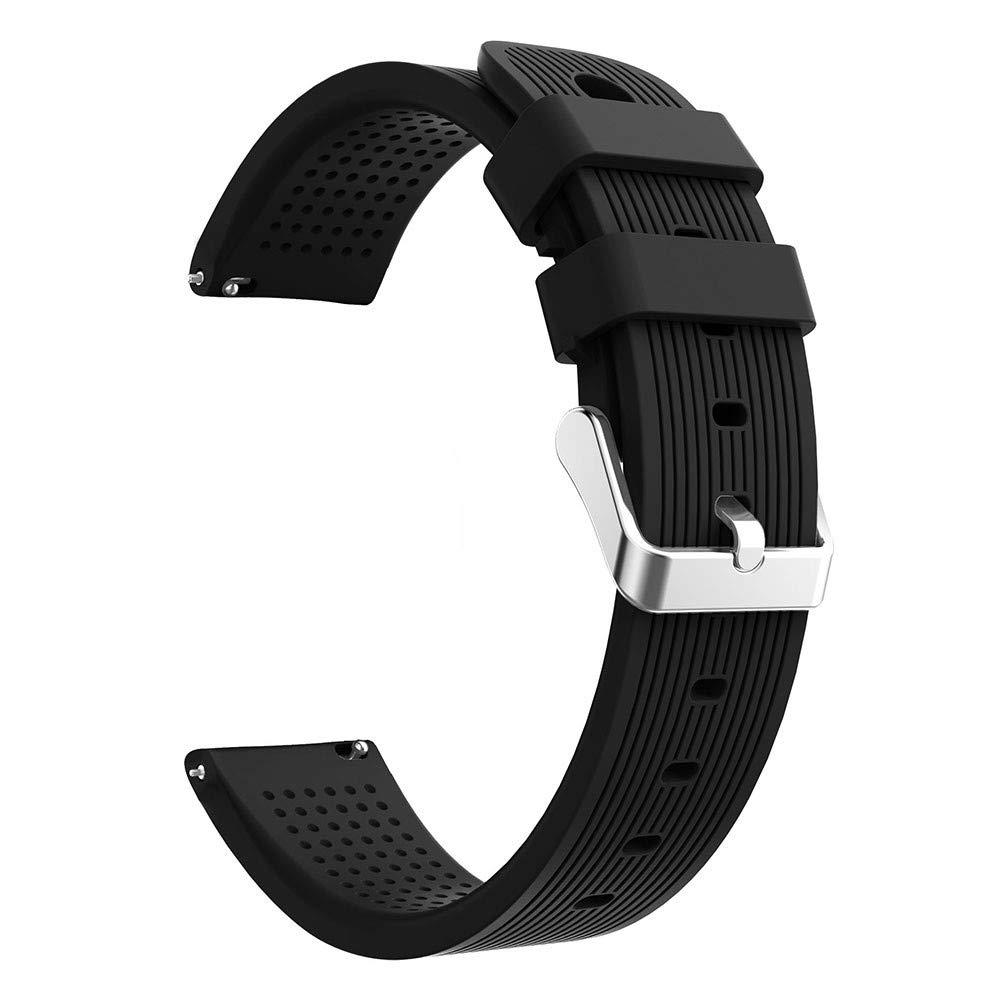 Lovewe Samsung Galaxy Watch Sport Soft Silicon Accessory,Watch Band Wirstband For Samsung Galaxy Watch 42mm (Black)