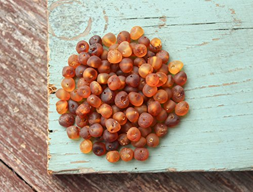 Gumstone 50 Piece Multicolored Amber Beads   100% All Natural Baltic Amber   Perfect for Teething Necklaces, Bracelets, Handcrafted Jewelry for Natural Remedies, Absorbs Negative Energies