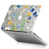 MacBook Old Non Retina Pro 13 Case, GMYLE Plastic Hard Case Cover Clear Glossy for Old MacBook Pro 13 inch with CD-ROM (Model: A1278) [2009-2014 Release] - See Through Floral Pattern