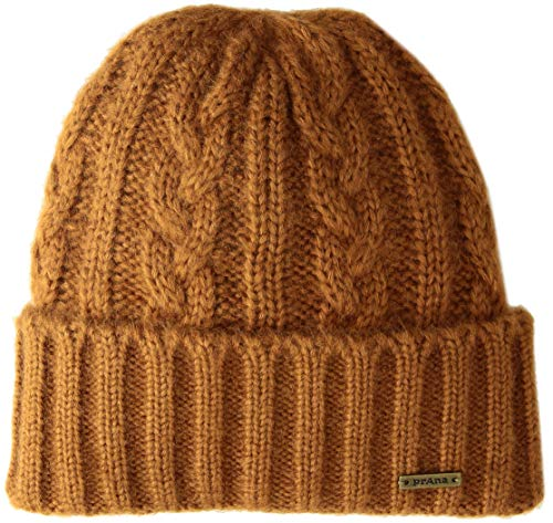 (prAna Men's Men's Cable Knit Beanie Cold Weather Hats, One Size, Burnt Caramel)