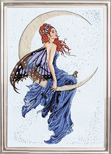 Design Works - Blue Moon - Counted Cross Stitch Kit 2909 with Gift Card, 12 by 18-inches - Fairy Cross Stitch