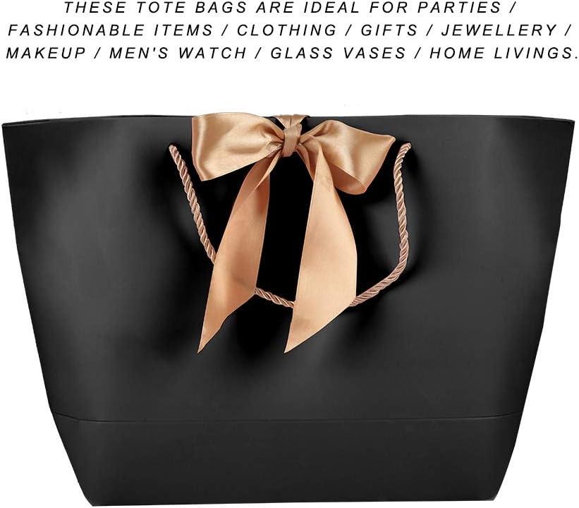 Salmue 10er Schwarz Hochwertige Papiert/üten einfache Papiert/üten dekorative Geschenkpapiert/üten 1# Kleidung Kosmetik Geschenk Papiert/üten f/ür die Verpackung verwendet