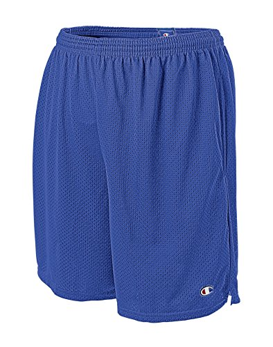 Champion Men's Long Mesh Short with Pockets, Surf the Web, 3XL
