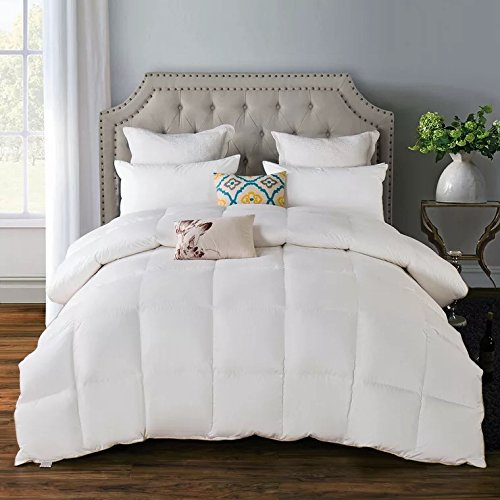 Luxurious Goose Down Feather Comforter Duvet Quilt Insert Hypoallergenic 650 Fill Power,100% Organic Downproof Shell,Medium Warmth,Twin/Twinxl Size by ROSE FEATHER
