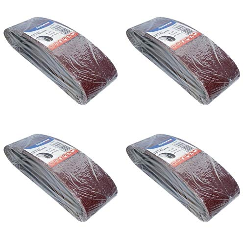 Paquete de 20 cintas de lija de 75 mm x 533 mm Inc 40 60 80 y 120 Grits