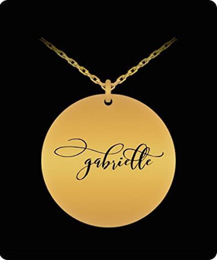 bb3d4102ed076 Amazon.com: Gabrielle Pendant - Name Necklace - Personalized Charm ...